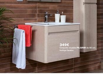 Conjunto mueble de baño PILGRIM, de 80 cm., por sólo 349 €. en tu baño pasan cosas... Del 1 al 31 de marzo, ofertas especiales en DANIEL GARCÍA, SL. | Tu tienda GAMMA.