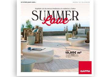 SUMMER Love Inspírate con las nuevas tendencias en cerámicas y baños.  Del 1 al 31 de julio, en DANIEL GARCÍA, SL. | Tu tienda GAMMA.