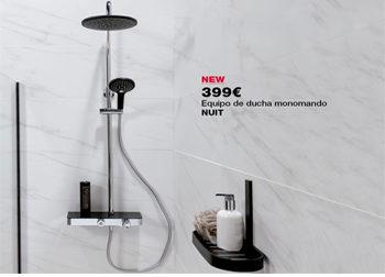 Equipo de ducha monomando NUIT, por tan sólo 399 €. Hasta el 31 de octubre de 2018, en DANIEL GARCÍA, SL. | Tu tienda GAMMA