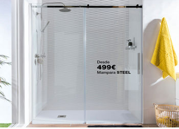 Mampara de ducha STEEL, desde tan sólo 499 €. Hasta el 31 de octubre de 2018, en DANIEL GARCÍA, SL. | Tu tienda GAMMA