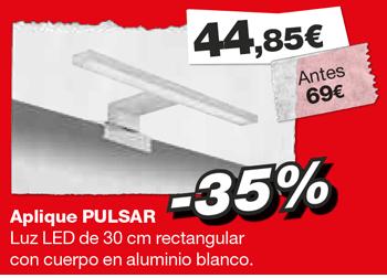 Aplique PULSAR. Antes: 69 €. Ahora: 44,85 €. Hasta el 8 de marzo de 2019, en DANIEL GARCÍA, SL. | Tu tienda GAMMA
