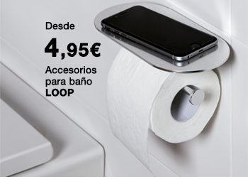 Accesorios para baño LOOP. Desde 4,95 €.  Disponible en DANIEL GARCÍA, SL. | Tu tienda GAMMA