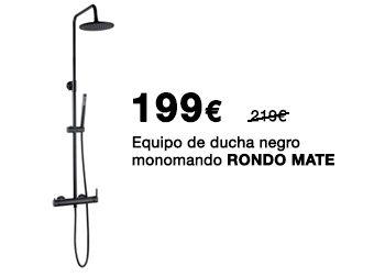 Equipo de ducha negro monomando RONDO MATE. 199 €.  Disponible en DANIEL GARCÍA, SL. | Tu tienda GAMMA