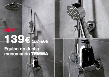 Equipo de ducha monomando TEMMA. 139 €.  Disponible en DANIEL GARCÍA, SL. | Tu tienda GAMMA
