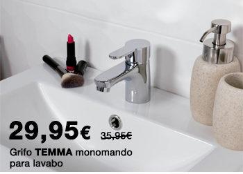 Grifo monomando TEMMA para lavabo. 29,95 €.  Disponible en DANIEL GARCÍA, SL. | Tu tienda GAMMA