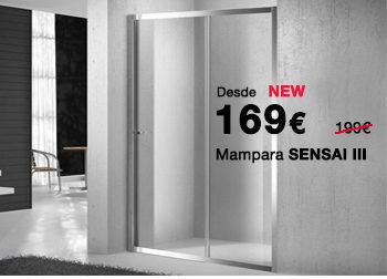 Mampara de ducha SENSAI III. 169 €. Del 1 al 31 de julio de 2019, en DANIEL GARCÍA, SL. | Tu tienda GAMMA
