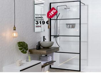 DEL 1 AL 31 DE MARZO DE 2020.  -¿mi baño completo? -mi baño completo es GAMMA. Mampara SOHO. 319 €.  Disponible en DANIEL GARCÍA, SL. | Tu tienda GAMMA