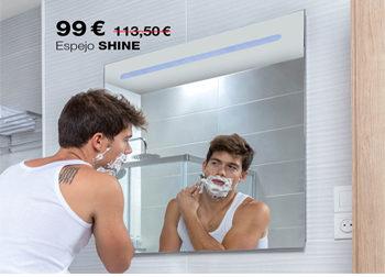 DEL 1 AL 31 DE JULIO DE 2020.  Espejo SHINE, con luz LED, de Tattom. 99 €. ANTES: 113,50 €. Medidas: 60x80 cm.   Pon tu hogar en forma con DANIEL GARCÍA, SL. | Tu tienda GAMMA.