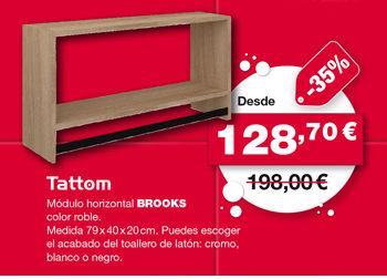 Módulo horizontal BROOKS, de Tattom. Desde 128,70 €.
