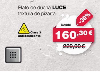 Plato de ducha LUCE, de raifen. Desde 160,30 €. ANTES: 229,00 €.