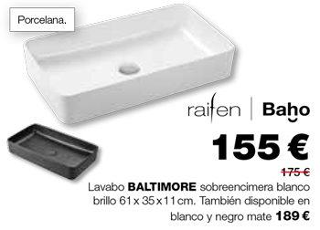 Lavabo BALTIMORE blanco, de raifen: 155 €.