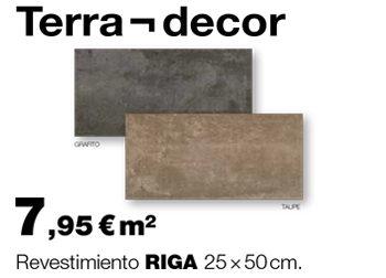 Revestimiento RIGA 25x50 cm., de Terra-decor: 7,95 €/m² €.